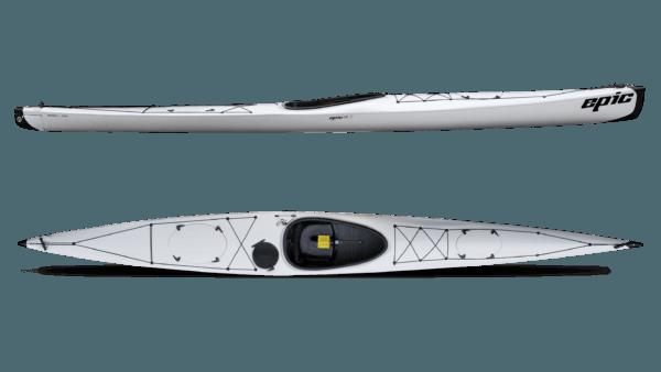 white color epic 18x performance epic kayak fluid fun canoe and kayak