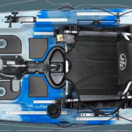 light blue royal blue color coosa fd thunderstruck II kayak fluid fun canoe and kayak