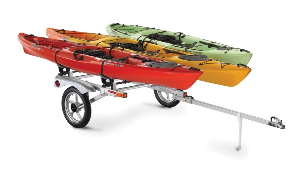 Trailer with canoes loaded