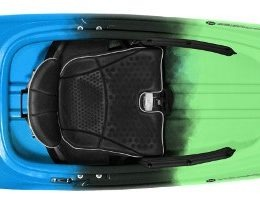light blue green aspire 105 kayak fluid fun canoe and kayak