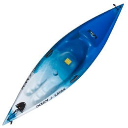 blue and white banzai ocean kayak fluid fun canoe and kayak