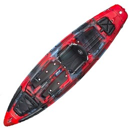 red and black big rig jackson kayak fluid fun canoe and kayak