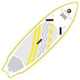 grey and white C4 Waterman SUP paddleboard fluid fun canoe and kayak