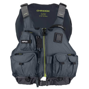 chinook black color life vest fluid fun canoe and kayak