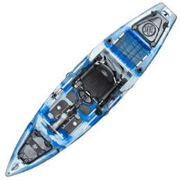 blue and white coosa FD jackson kayak fluid fun canoe and kayak