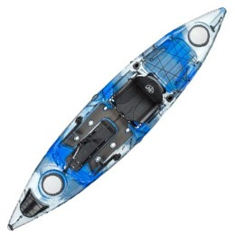 blue and white cuda 12 jackson kayak fluid fun canoe and kayak