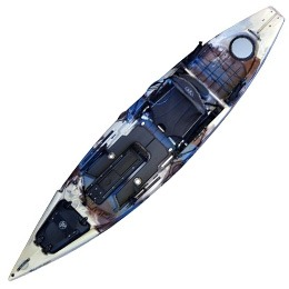 blue brown and white cuda HD jackson kayak fluid fun canoe and kayak