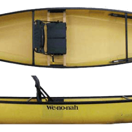 top and side view of fusion kayak fluid fun canoe and kayak