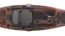 top view of manta ray propel 12 kayak fluid fun canoe and kayak
