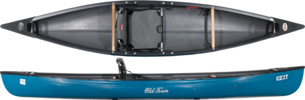 top and side views of next old town canoe