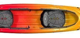 orange yellow color cove 14.5t kayak fluid fun canoe and kayak