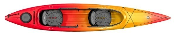 orange yellow color cove 14.5t kayak fluid fun canoe and kayak