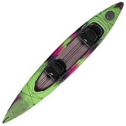 green and pink palmico 145T wilderness systems kayak fluid fun canoe and kayak