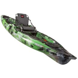side view of predator 13 boat fluid fun canoe and kayak