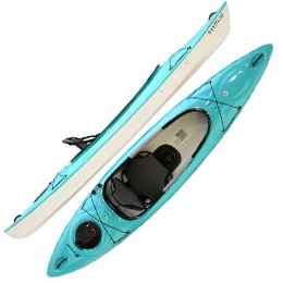 light blue santee 110 sport hurricane aquasports kayak fluid fun canoe and kayak