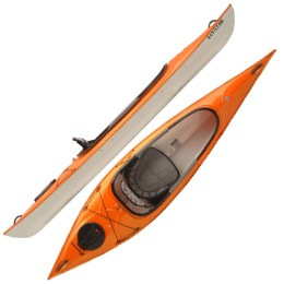 orange santee 116 sport hurricane aquasports kayak fluid fun canoe and kayak