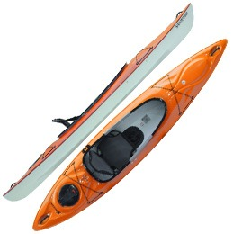 orange santee 120 sport hurricane aquasports kayak fluid fun canoe and kayak