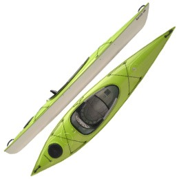 lime green santee 126 hurricane aquasports kayak fluid fun canoe and kayak