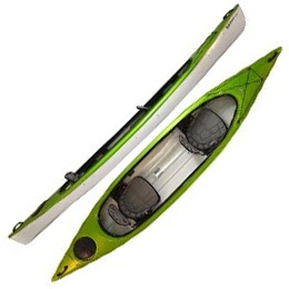 green santee 140T hurricane aquasports kayak fluid fun canoe and kayak