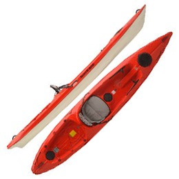 red skimmer 128 hurricane aquasports kayak fluid fun canoe and kayak