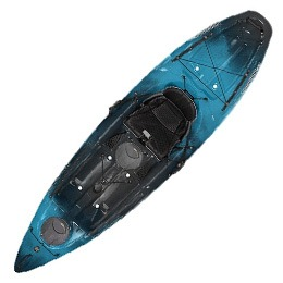 blue and black tarpon 100 wilderness systems kayak fluid fun canoe and kayak