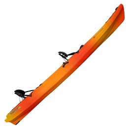 red and orange tarpon 120 wilderness systems kayak fluid fun canoe and kayak