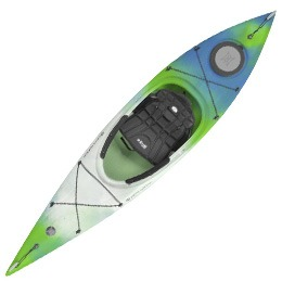 blue green and white tribute 10.0 perception kayak fluid fun canoe and kayak