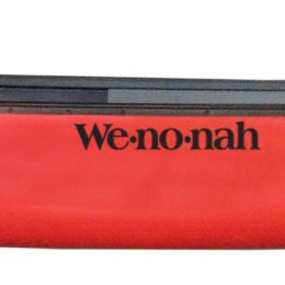 side view of red color wenonah canoe fluid fun canoe and kayak