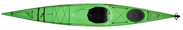 top view green color vision 150 roto kayak fluid fun canoe and kayak