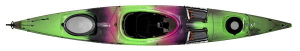 green black fuchsia color tsunami 140 kayak fluid fun canoe and kayak