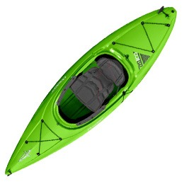 lime green zydeco 9.0 dagger kayak fluid fun canoe and kayak