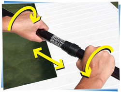 image showing how to hold hands on paddle fluid fun canoe and kayak