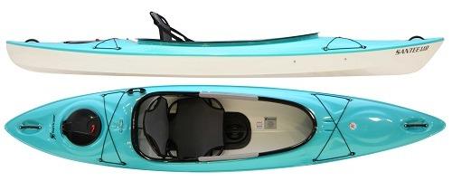 aqua color santee 110 sport kayak fluid fun kayak and canoe