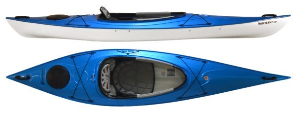 blue color santee 116 kayak fluid fun kayak and canoe