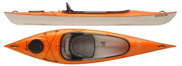 mango color santee 116 sport kayak fluid fun kayak and canoe