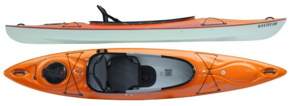 mango color santee 120 sport kayak fluid fun kayak and canoe