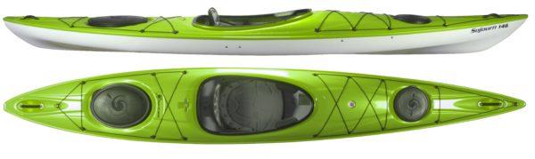 green color sojourn 146 kayak fluid fun kayak and canoe