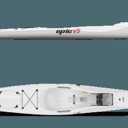 side and top views epic v5 kayak fluid fun canoe and kayak
